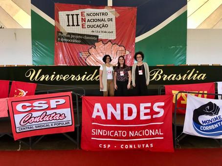 Representantes da ADUFOP participaram do III Encontro Nacional de Educação em Brasília