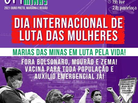 Manifesto 8M - Ouro Preto, Mariana e região
