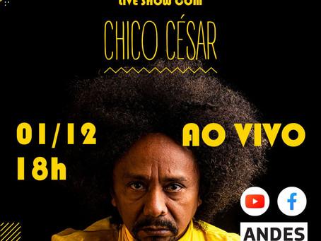 Posse da nova diretoria do ANDES-SN ocorre dia 1º de dezembro com live do Chico César