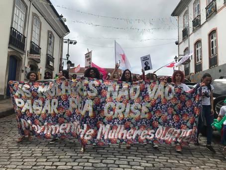 8M: Mulheres ocuparam as ruas de Ouro Preto no 8 de março