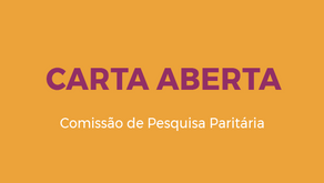 Comissão de Pesquisa Paritária divulga Carta aberta à comunidade acadêmica da UFOP