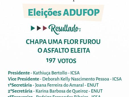 Comissão Eleitoral proclama o resultado das Eleições ADUFOP