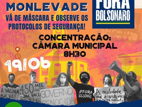 João Monlevade | 19 de junho - POVO NA RUA, FORA BOLSONARO!