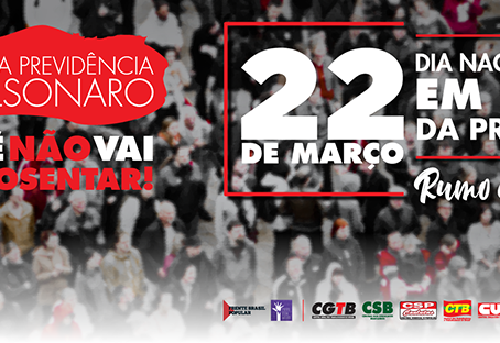 Frente UFOP - IFMG organiza Dia Nacional de Luta em Defesa da Previdência em Ouro Preto e em Mariana