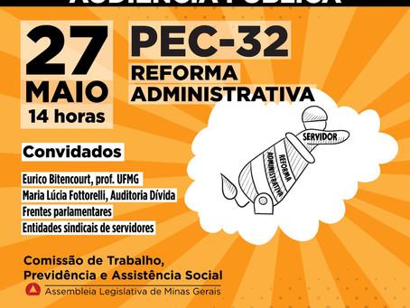 Audiência pública virtual sobre a Reforma Administrativa
