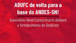 Sindicato dos docentes das federais do Ceará aprova refiliação ao ANDES-SN