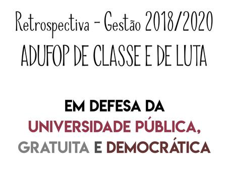 Retrospectiva - Gestão 2018/2020