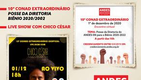 Acompanhe - Transmissão ao vivo do 10º CONAD e show do Chico César