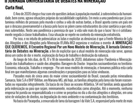 A mineração que queremos | Carta final