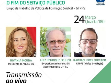 """Live """"PEC 32 — Reforma Administrativa: O fim do serviço público"""""""