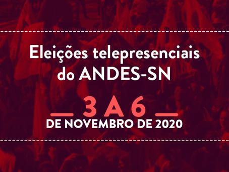Eleições ANDES-SN: saiba como votar