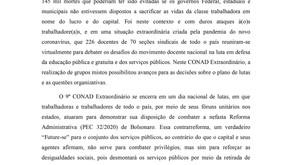 Carta do 9º CONAD Extraordinário do ANDES-SN