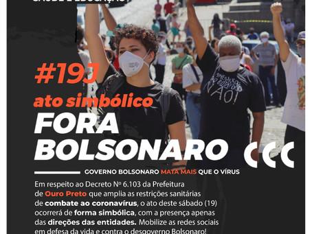 Ouro Preto | 19 de junho - Ato simbólico Fora Bolsonaro!