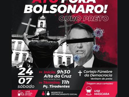 24 de julho é Dia de Luta pelo Fora Bolsonaro/Mourão
