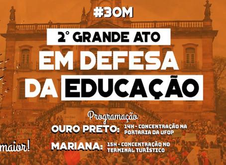 Estudantes, professores e TAES convocam novos atos em defesa da educação para o dia 30 de maio