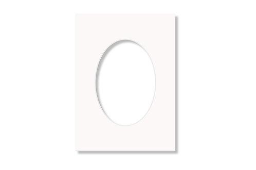 Oval Passpartou från 9x13 cm