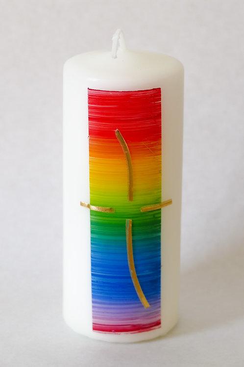 Regenbogenhintergrund mit Kreuz