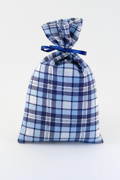 Lavendelsäckchen hellblau-dunkelblau kariert