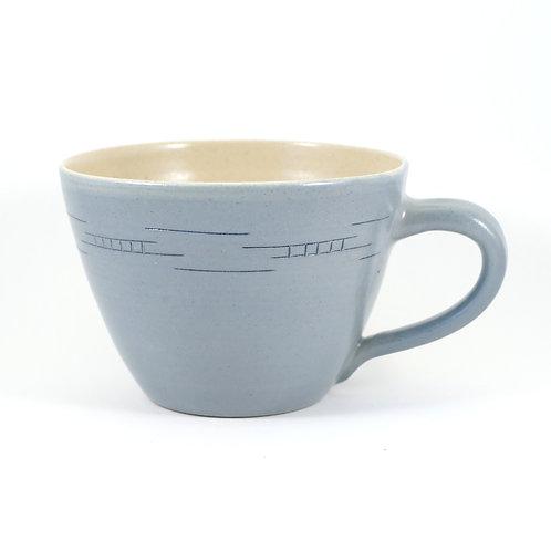 große Milchkaffeetasse, geritzt