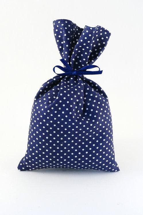 Lavendelsäckchen dunkelblau mit weißen Pünktchen