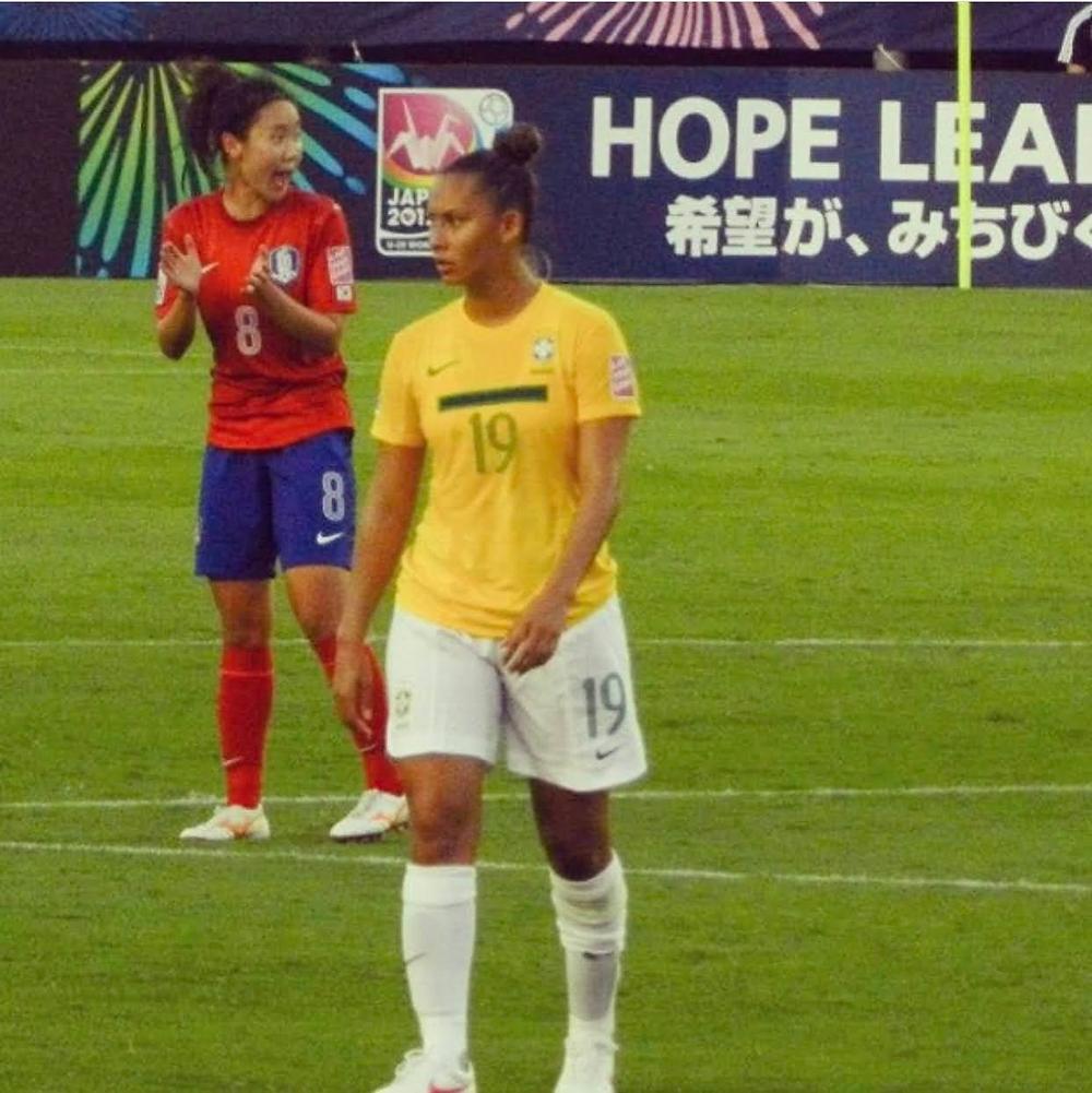 Atual atleta do Palmeiras Feminino, Carol Rodrigues, vesta a 19 da Seleção Brasileira Sub-20 de futebol feminino