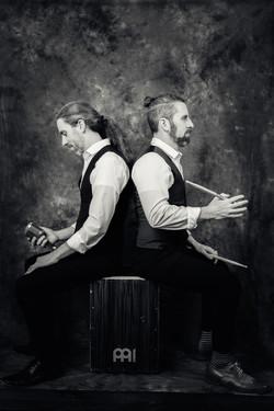 Pat + Sean Kelly Black and White