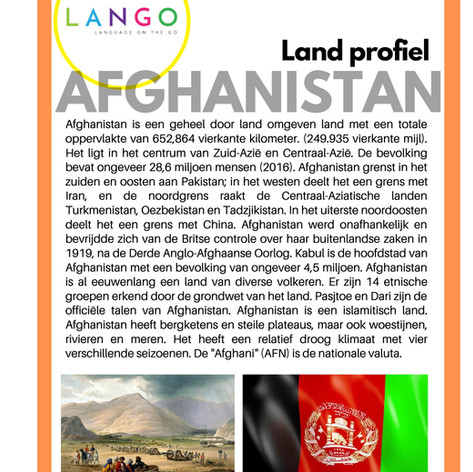 Country Profile Afghanistan