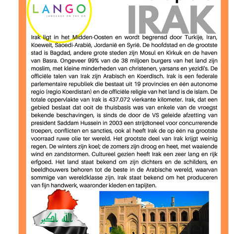 Country Profile Iraq