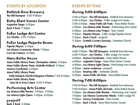 Participate in the Evening of Arts & Culture on Friday, Oct. 12!