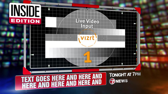 real time 3D graphic template built in vizRT