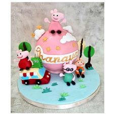 Peppa Pig Pinata Cake