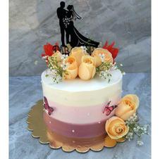 Fresh Flower Ombre Cake