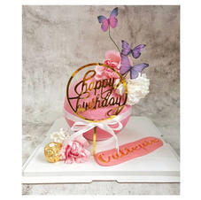 Butterfly Pink Pinata Cake