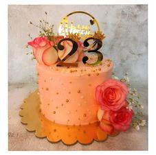 Peach Fresh Flower Cake