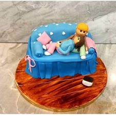 1 kg cake in the shape of sofa. Perfect of an anniversary