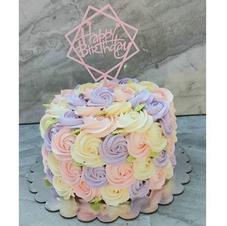 Pastel Colours Rosette Cake