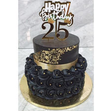 2 Tier Black Cake