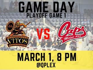 March 1: Saint John Vito's vs Fredericton Caps