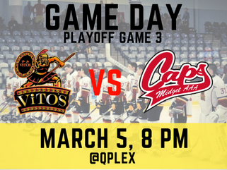 March 5: Saint John Vito's vs Fredericton Caps