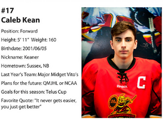 It's Official, Caleb Kean is the Big Winner for the NBPEIMMHL Awards