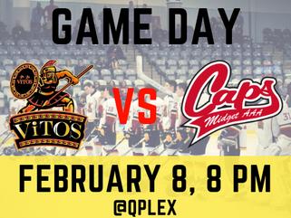 February 8: Saint John Vito's vs Fredericton Caps