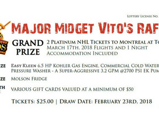 Major Midget Vito's Raffle