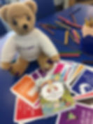 dodl bear and cards.jpg