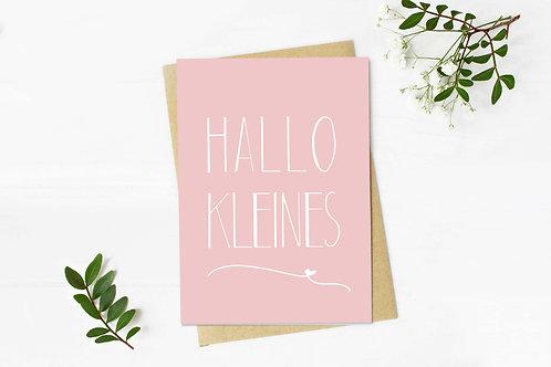 """Grußkarte """"Hallo Kleines"""""""