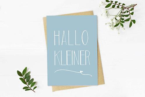 """Grußkarte """"Hallo Kleiner"""""""