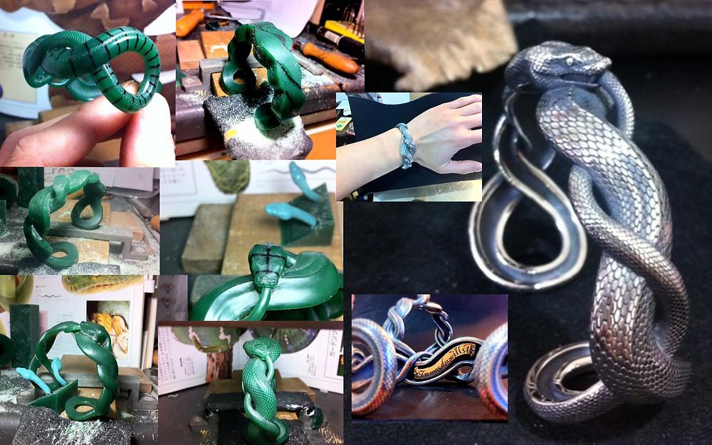 『蛇のバングル(020B)』完成