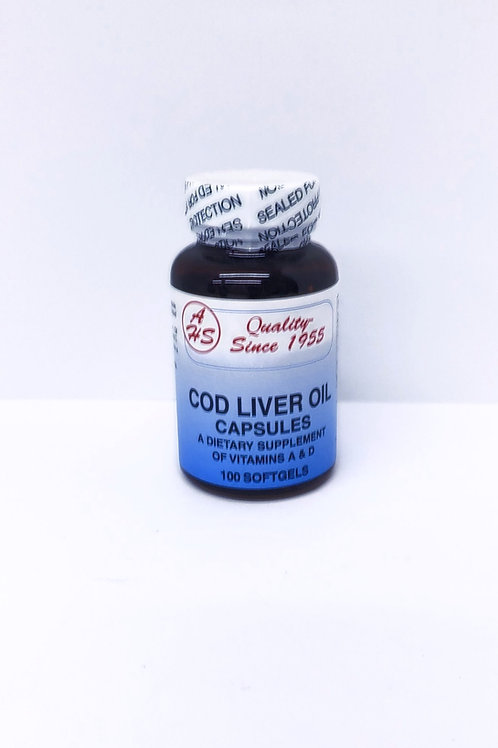 Cod Liver Oil, 100 softgels