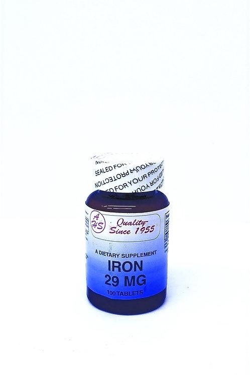Iron, 29MG,100 Tablets