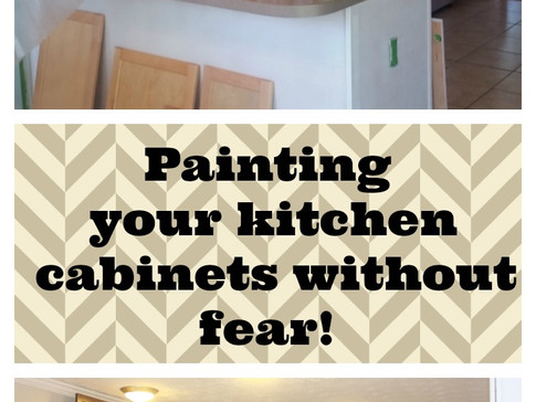 Painting Your Kitchen Cabinets without fear!