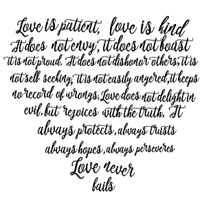 Love Is Patient Verse SVG file download